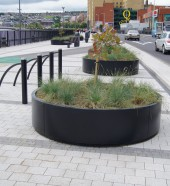 Queensquay, Derry, Planter and Bicycle Rack