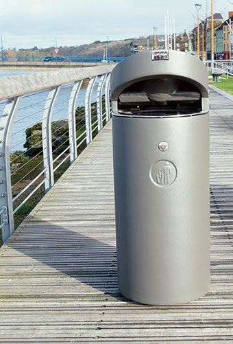 HC2057 Litter Bin without Advertising Panel