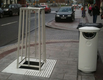 Tree Grilles and Protectors and Litter Bins for Middleton, Cork, Ireland