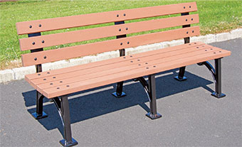 Hyde Park Seat 6ft With Composite Timber