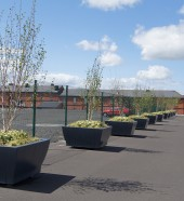 outdoor seating - public seating - square planters - rectangular planters , Hartecast Ireland