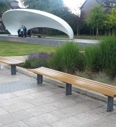 HC2026 bespoke curved bench