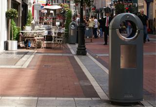 street waste bins - park litter bins
